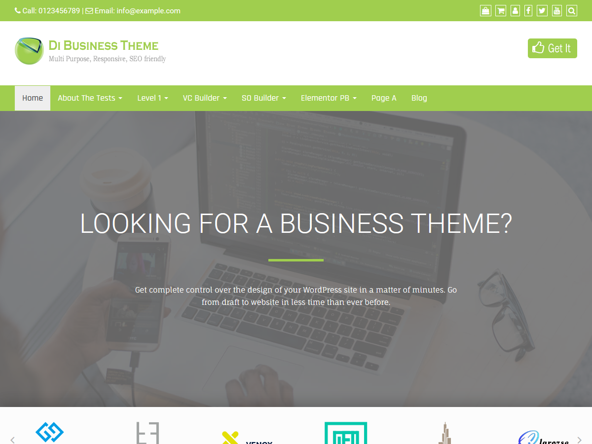 Di Business Free WordPress Business Themes
