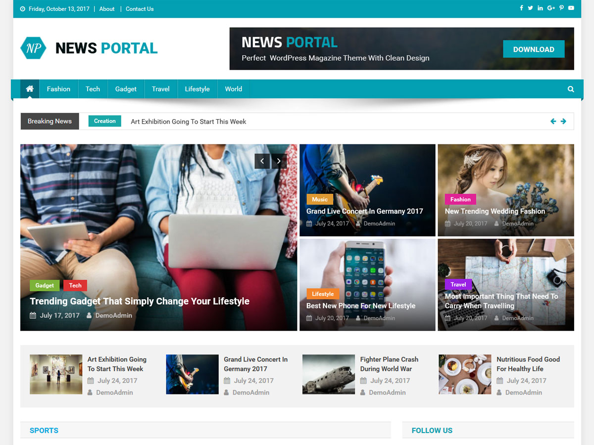 30 Modern Free Creative Wordpress Themes 2018 Getwptemplates