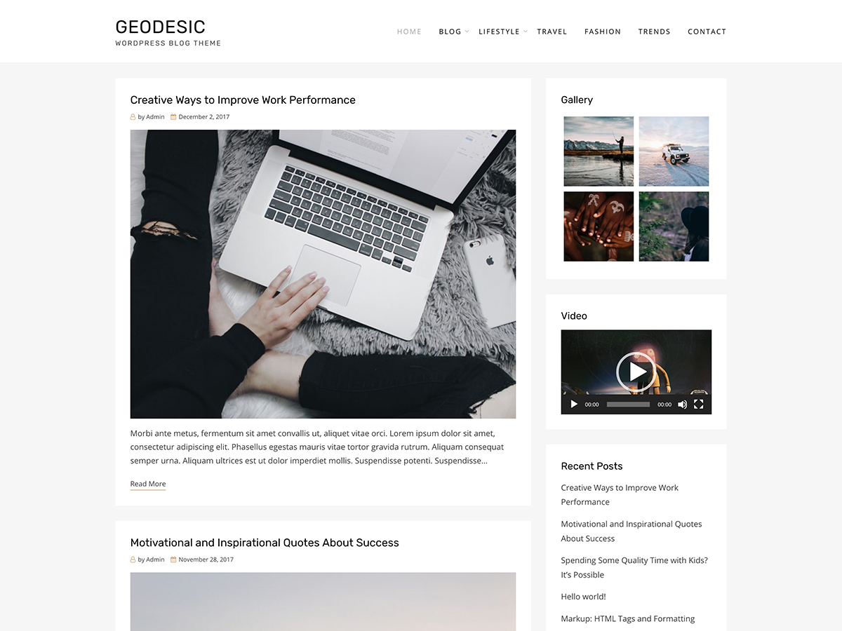 Geodesic - Free Modern Blog & Magazine Theme - GetWPTemplates