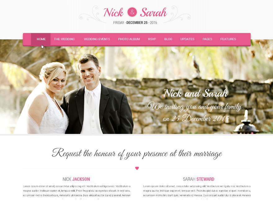 40 Free Wordpress Wedding Themes 2018 Getwptemplates