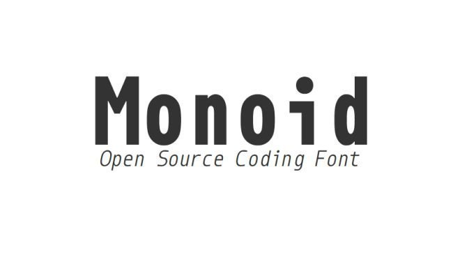 monospace fonts for coding